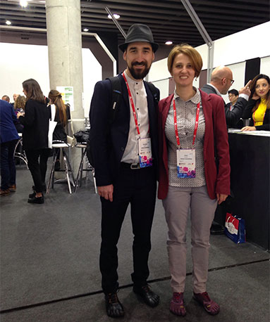 Oana Casapu and Alex Rotaru at MWC 2017